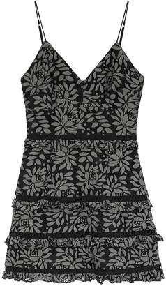 Keepsake Imagine Black Guipure Lace Mini Dress