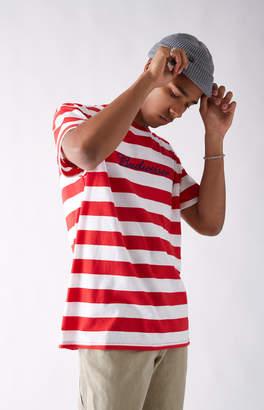 GUESS Pacsun x Budweiser Bud Stripe Red & White T-Shirt
