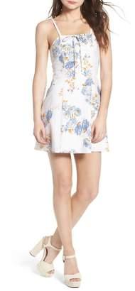 WAYF Modena Lace-Up Minidress