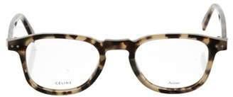 Celine Square Tortoiseshell Eyeglasses Beige Square Tortoiseshell Eyeglasses