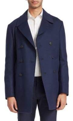 Armani Collezioni Tailored Wool Peacoat