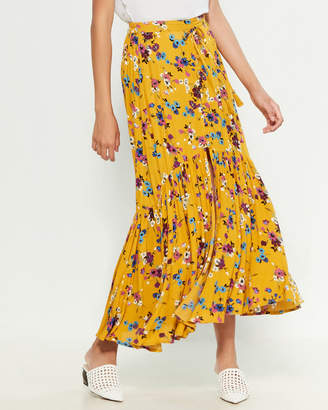 Band of Gypsies Floral Maxi Skirt