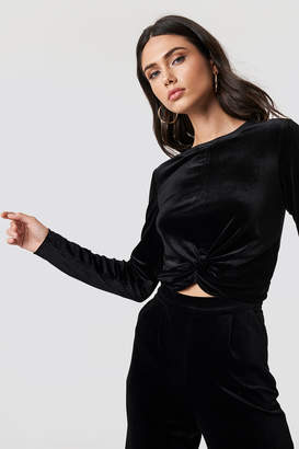 Rut & Circle Rut&Circle Knot Velvet Top Black