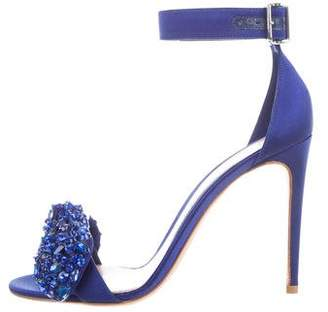 Alexander McQueen Embellished Bow Sandals w/ Tags