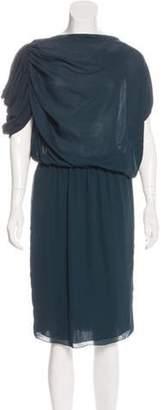 Lanvin Draped Sheath Dress green Draped Sheath Dress