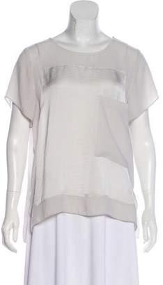 Helmut Lang Short Sleeve Scoop Neck Top