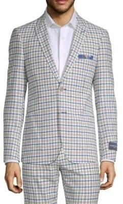Plaid Long-Sleeve Jacket