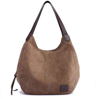 ac87a3c24f Nutsima Fashion Women S Canvas Tote Handbag Bag Lady Canvas Hobos Shoulder  Bag Female Large Capacity Leisure