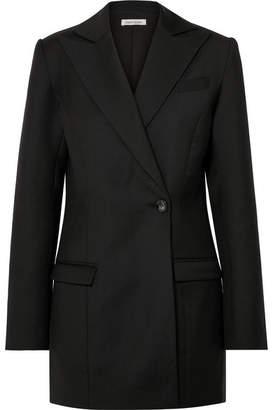 ANNA QUAN - Sienna Wool-piqué Blazer - Black