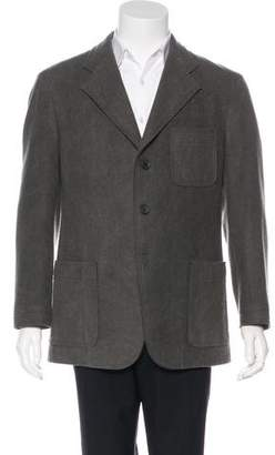 Issey Miyake Wool Three Button Sport Coat