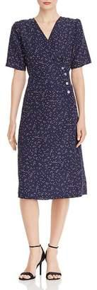 Aqua Dot Print Midi Wrap Dress - 100% Exclusive