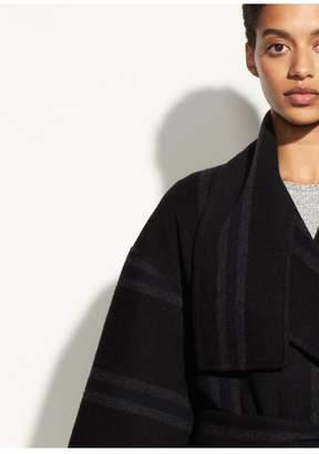 Vince Striped Blanket Coat