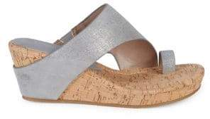 Donald J Pliner Gyer Leather Wedge Toe-Ring Sandals