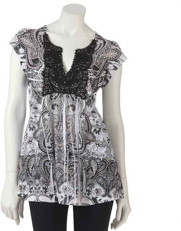 Apt. 9 scroll crochet sublimation top