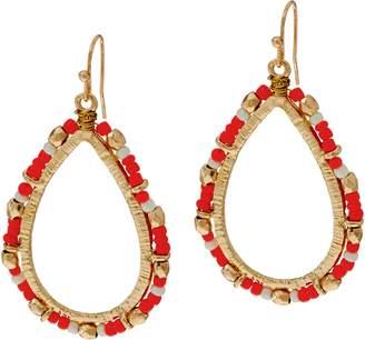 South Western Seed Beads Teardrop Dangle Earrings
