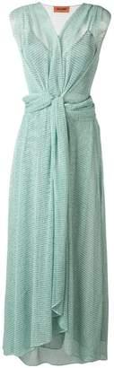 Missoni knot front dress