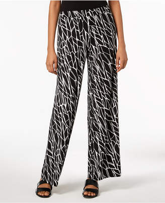 JM Collection Printed Jacquard Pants, Created for Macy's