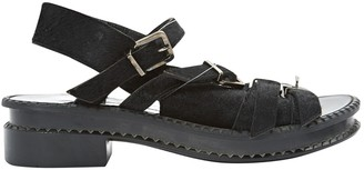 Robert Clergerie Black Pony-style calfskin Sandals