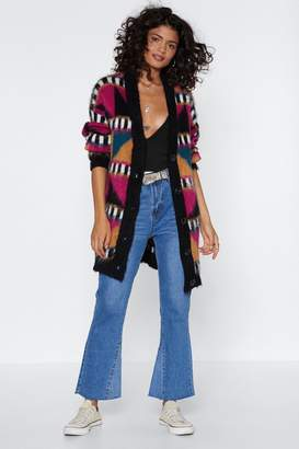 Nasty Gal Knit's About Time Geometric Cardigan