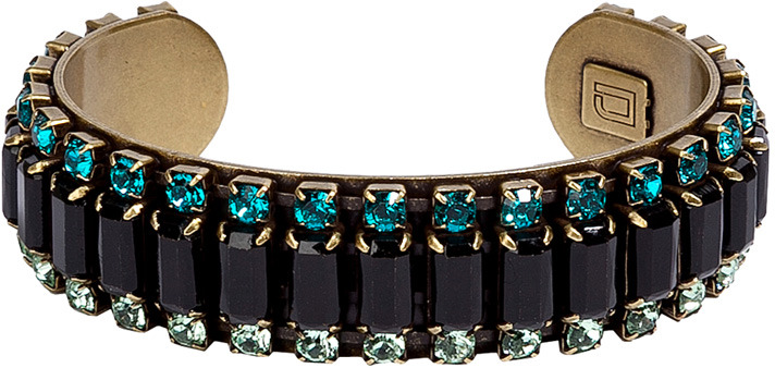 Dannijo Mint/Turquoise Crystal Embellished Cuff