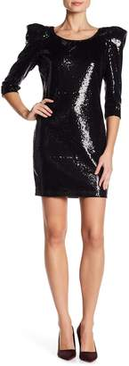 Issue New York 3/4 Sleeve Sequin Dress