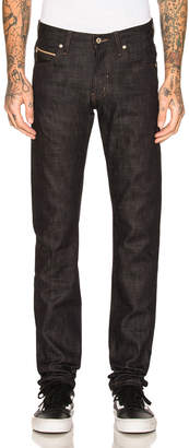 Naked & Famous Denim Super Skinny Guy Slub Stretch Selvedge with Beige Weft