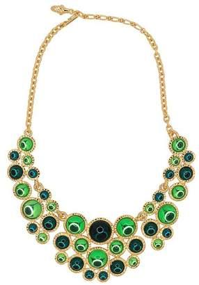 Kenneth Jay Lane Flawed Emerald Peridot Bib Necklace