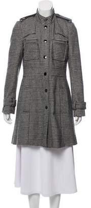 Alice + Olivia Wool Houndstooth Coat
