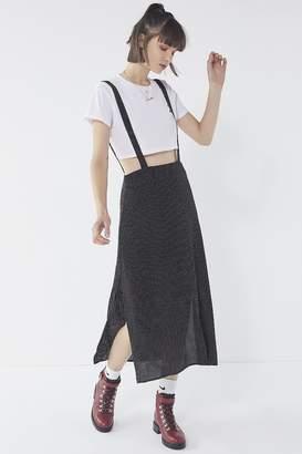 Urban Outfitters Polka Dot Midi Pinafore Dress