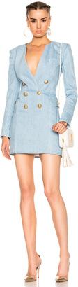 BALMAIN Double Breasted Mini Dress $2,080 thestylecure.com