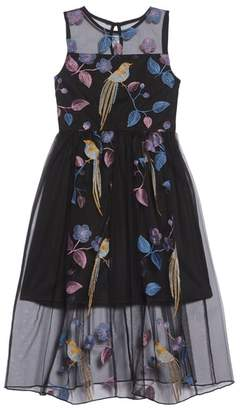 Trixxi Embroidered Bird Maxi Dress
