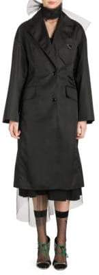Prada Long Sleeve Bow Trenchcoat