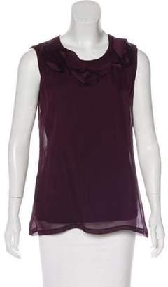 Lanvin Sleeveless Silk Top