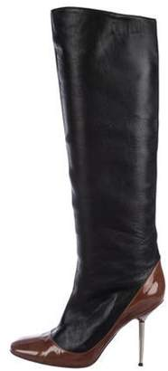 Lanvin Leather Knee-High Boots Black Leather Knee-High Boots