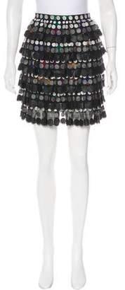 Marco De Vincenzo Guipure Lace Mini Skirt
