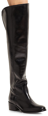 Ralph Lauren Safia Leather Over-The-Knee Riding Boots
