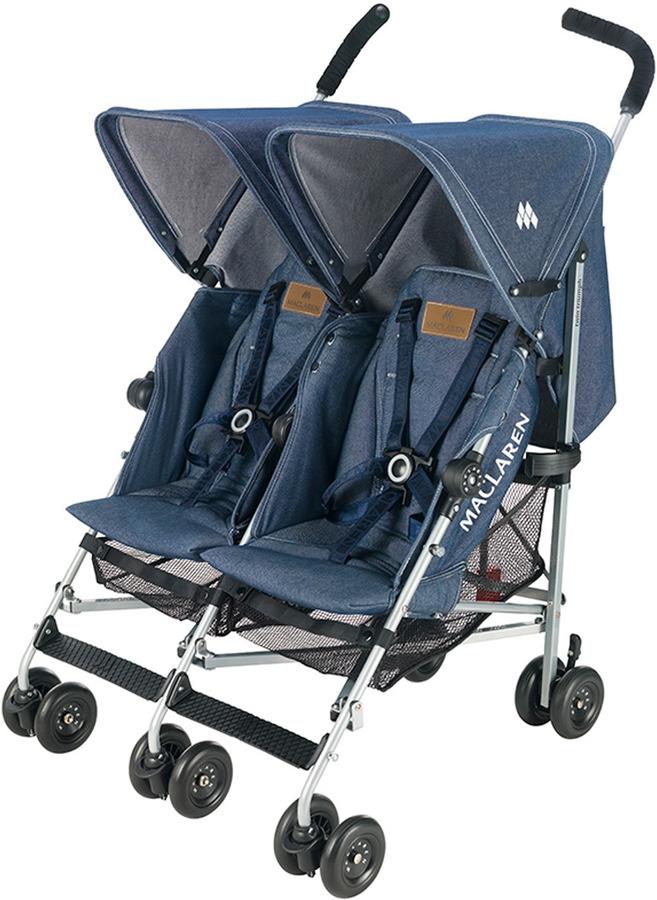 Maclaren Twin Triumph Stroller Denim Indigo