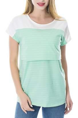 Smallshow Women's Maternity Nursing Tops Breastfeeding T-Shirt