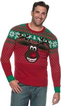 "Big & Tall Reindeer ""Poopermints"" Christmas Sweater"
