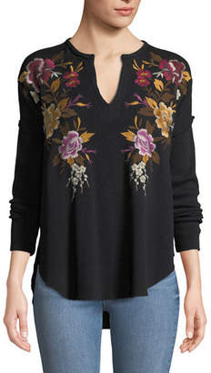 Johnny Was Petite Zosia Embroidered Boho Top