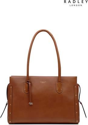 Next Womens Radley Tan Large Tote Shoulder Zip Top Bag