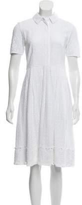 Draper James Short Sleeve Lace Midi Dress