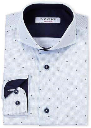 Isaac Mizrahi Boys 8-20) Mini Dot Print Dress Shirt