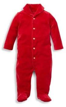 Ralph Lauren Baby Boy's Velour Footie