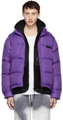 Perks And Mini Purple Synthesis Puffer Jacket