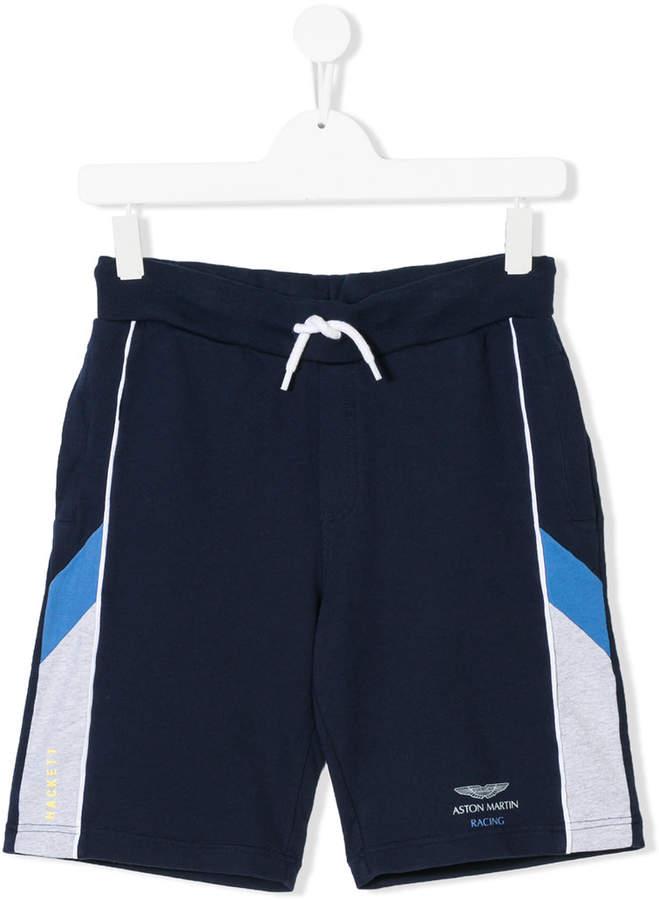Hackett Kids logo printed shorts