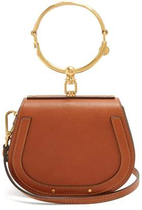 Chloé Nile Small Leather And Suede Cross Body Bag - Womens - Tan