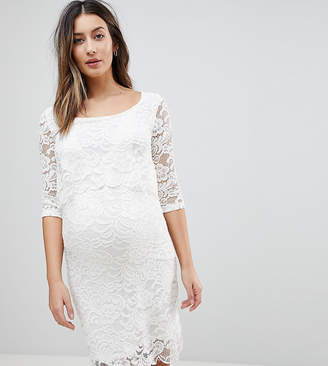 Mama Licious Mama.licious Mamalicious Nursing Lace Dress