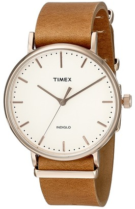 Timex Fairfield Leather Slip-Thru Strap $79.95 thestylecure.com