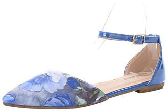 Lilith Mila Lady Fashion New Ankle Strap Pointy Toe Woman s D'Orsay Floral Flats